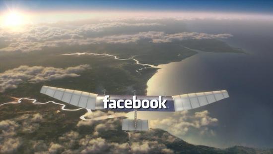 Facebook新计划:千架无人机供全球50亿人上网
