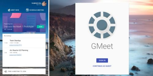 谷歌在线会议产品GMeet曝光:采用全新设计语言