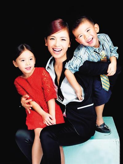刘涛和孩子们。