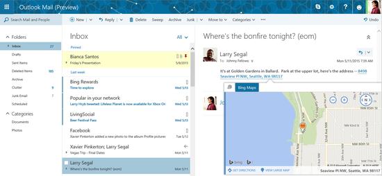 微软网页邮件大升级:功能向Outlook靠近