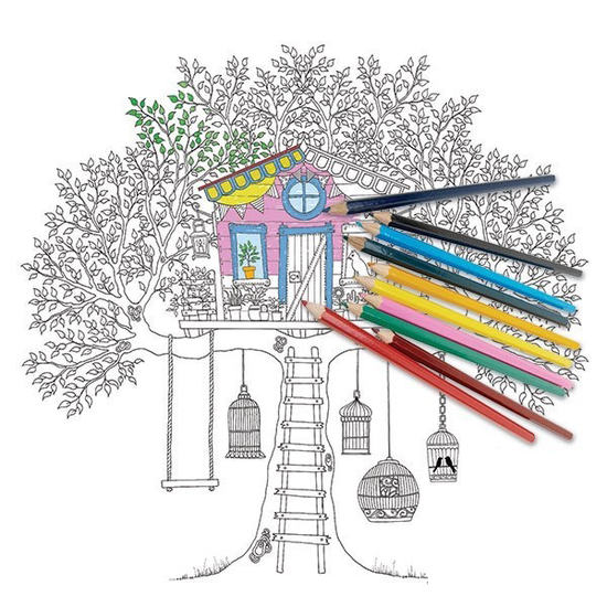 把《秘密花园》都涂成彩色的就能减压吗 《秘密花园》 减压 绘画_新浪时尚_新浪网