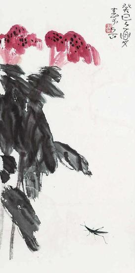 陈寿岳 鸡冠花(拍品编号:29)