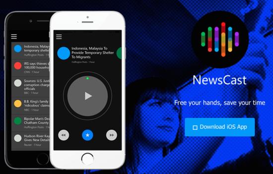 微软测试iOS应用NewsCast:把新闻读给你听