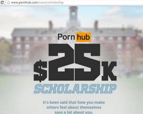 最大色情网站资助大学生 要求平均绩点3.2以上