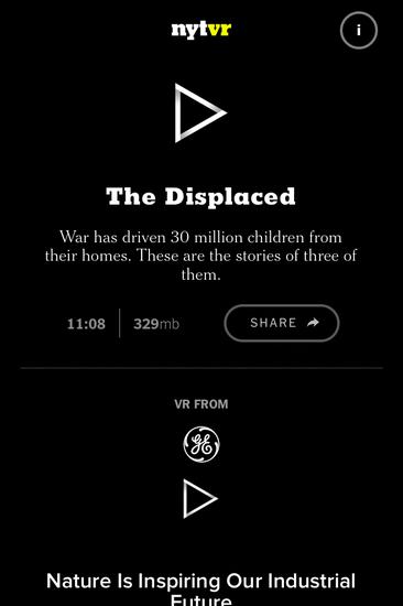 纽约时报VR新闻App出炉 让你亲历战火现场