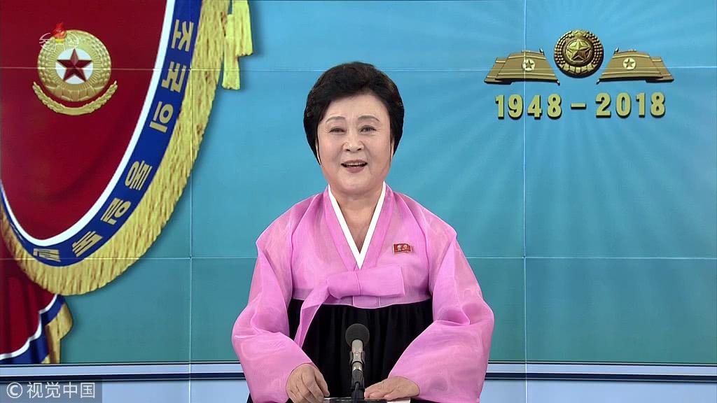 去年12月3日,75岁的朝鲜国宝级女主持人李春姬宣布退休 图源:视觉中国