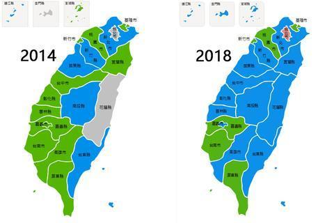 台湾地域两次中央选举状况比照