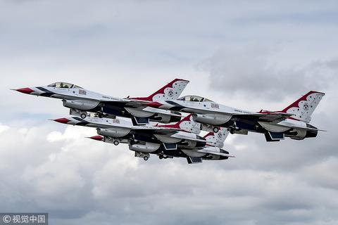 美国F-16战机(视觉中国)