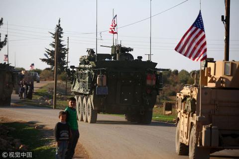 2017年5月7日,美军在叙利亚巡逻。图片来源:视觉中国