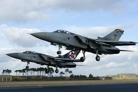 英国皇家空军军机(图:《每日邮报》)