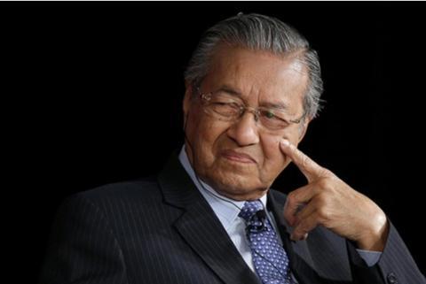 资料图:马来西亚总理马哈蒂尔(图源:视觉中国)
