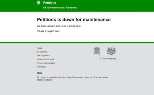 撤销脱欧请愿书已获百万签名 访问量飙升令网站瘫痪