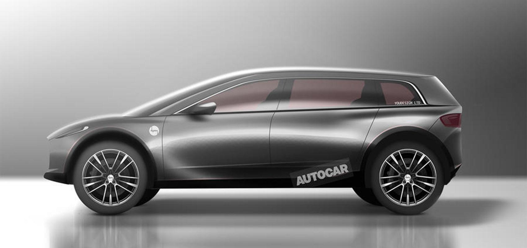 根据戴森公开的专利申请绘制的电动车型渲染图 | AutoCar
