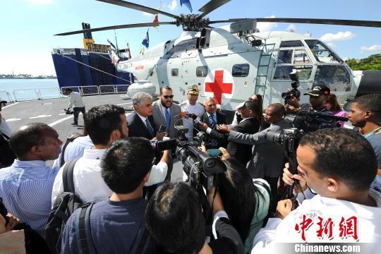 和平方舟首访多米尼加,受到当地媒体关注。江山 摄