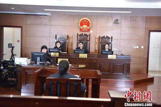 图为庭审现场。 法院供图 摄