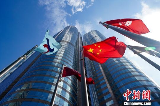图为香港交易广场资料照片。 张炜 摄