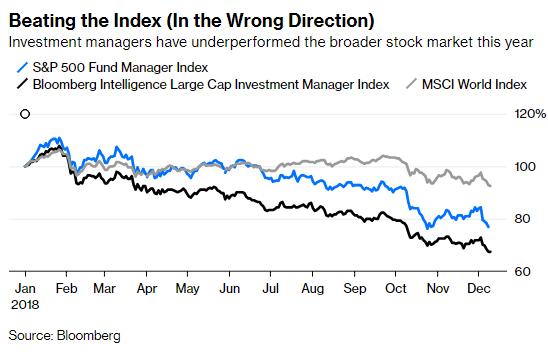 投资经理2018年的业绩外现逊于股市大盘
