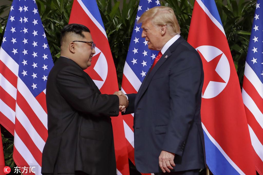 历史上美朝两国在任领导人首次会晤(图/东方IC)