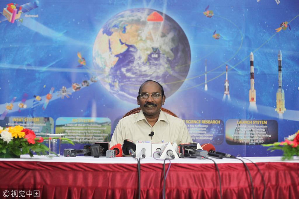 印度空间钻研构造(ISRO)主席金思旺博士 图源:视觉中国