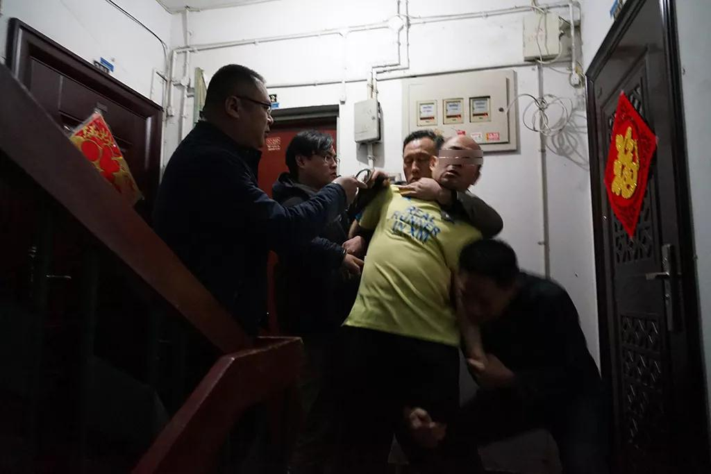犯罪嫌疑人被警方抓获