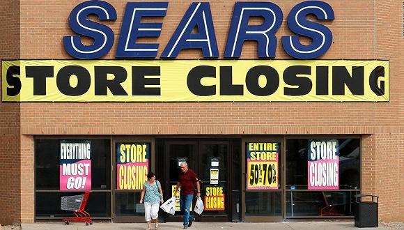 美国老牌零售商Sears连亏八年 将面临破产清算