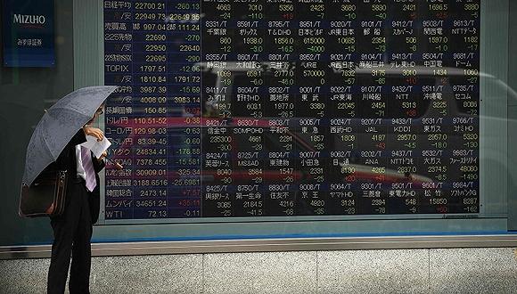 2018年5月23日,日本东京,东京证交所股价牌。图片来源:视觉中国
