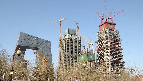 2016年03月31日,北京,建设中的中国尊。图片来源:视觉中国