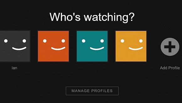 Netflix选择用户界面
