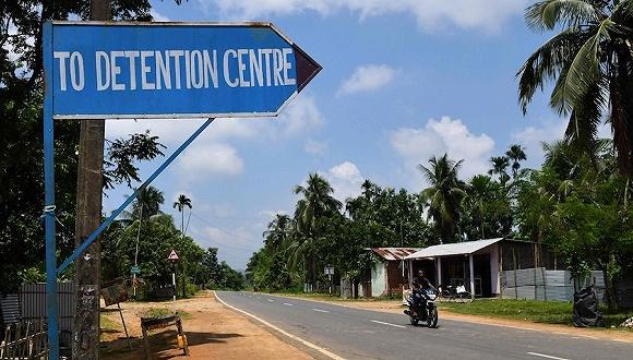 """2019年8月29日,印度阿萨姆邦戈阿尔帕拉,当地在为没有""""公民身份""""的人兴建一座拘留中心。图片来源:视觉中国"""