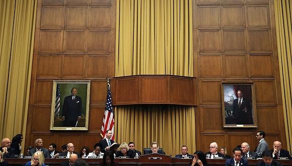 2019年9月12日,美国华盛顿,美国国会众议院司法委员会进行投票。图片来源:视觉中国