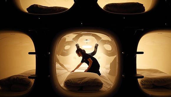 成田机场的胶囊酒店 来源:视觉中国