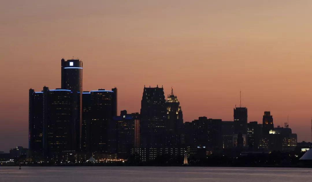 ▲资料图:美国底特律的黄昏(新华社/美联)