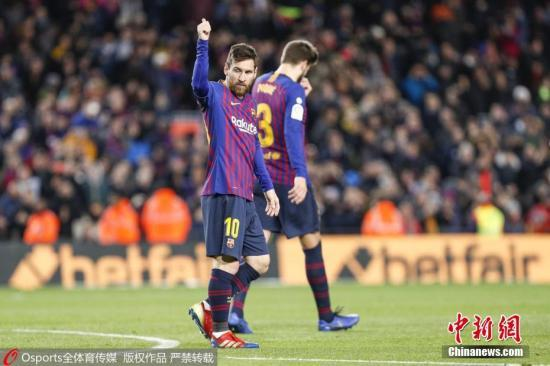 1月14日,在巴塞罗那主场3:0击败埃瓦尔的比赛中,梅西攻入幼我西甲联赛第400球,成为历史上首位达成这一收获的球员。图片来源:Osports通盘育图片社