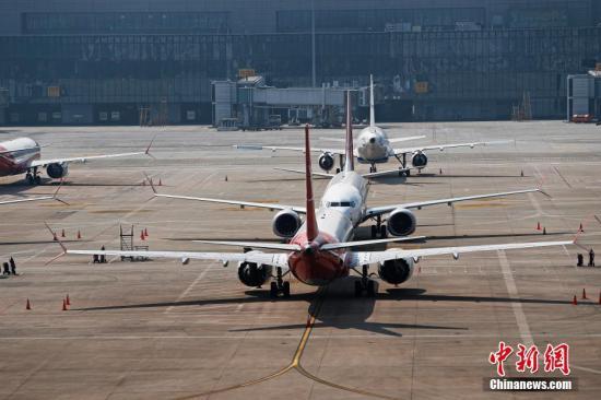 资料图片:波音737MAX机型飞机。中新社记者 殷立勤 摄