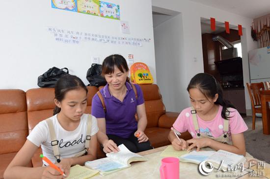 不愁了!广西容县扶贫搬迁户子女就近入学(二)