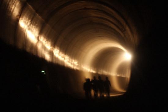 2008年2月27日,北京地铁4号线的一条隧道。当时,4号线还未全线铺轨。2009年9月28日,4号线开通运营。