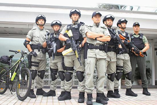 图为香港惩教飞虎队