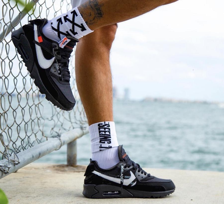 new concept 2c547 d5292 上脚的确帅!OFF-WHITE x Air Max 90 V2 即将发售|鞋身|细节|百 ...