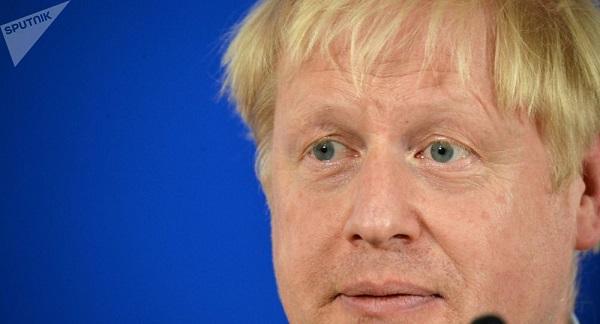 英国首相约翰逊(图源:俄罗斯卫星通讯社)