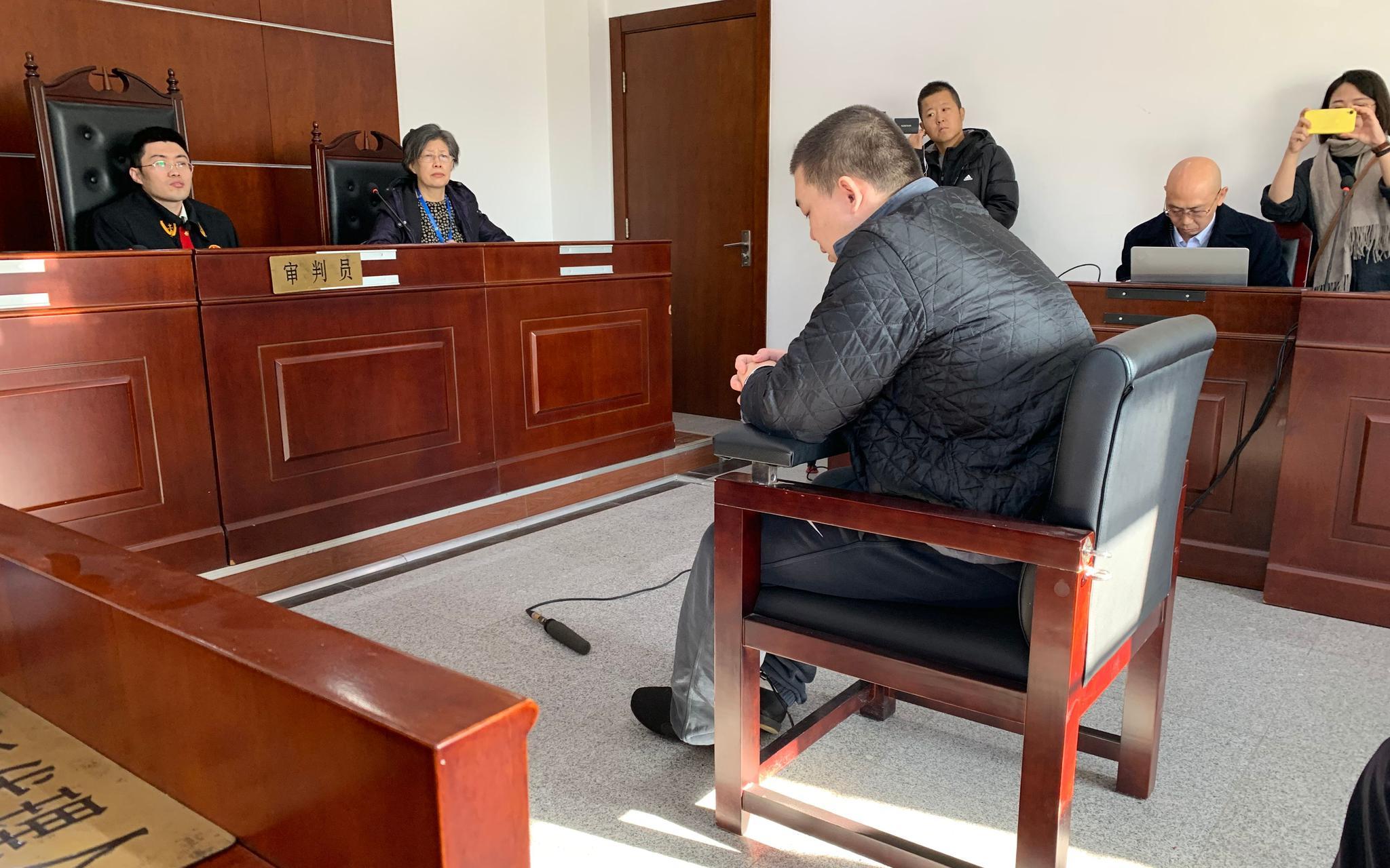 11月25日上午,被告人韩某在北京市朝阳法院受审。新京报记者 刘洋 摄