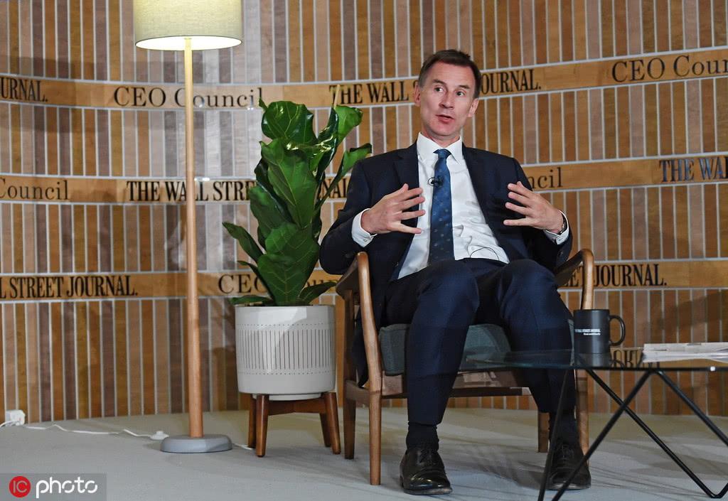 5月14日,英国伦敦,亨特在《华尔街日报》举办的会议上讲话 图自IC photo