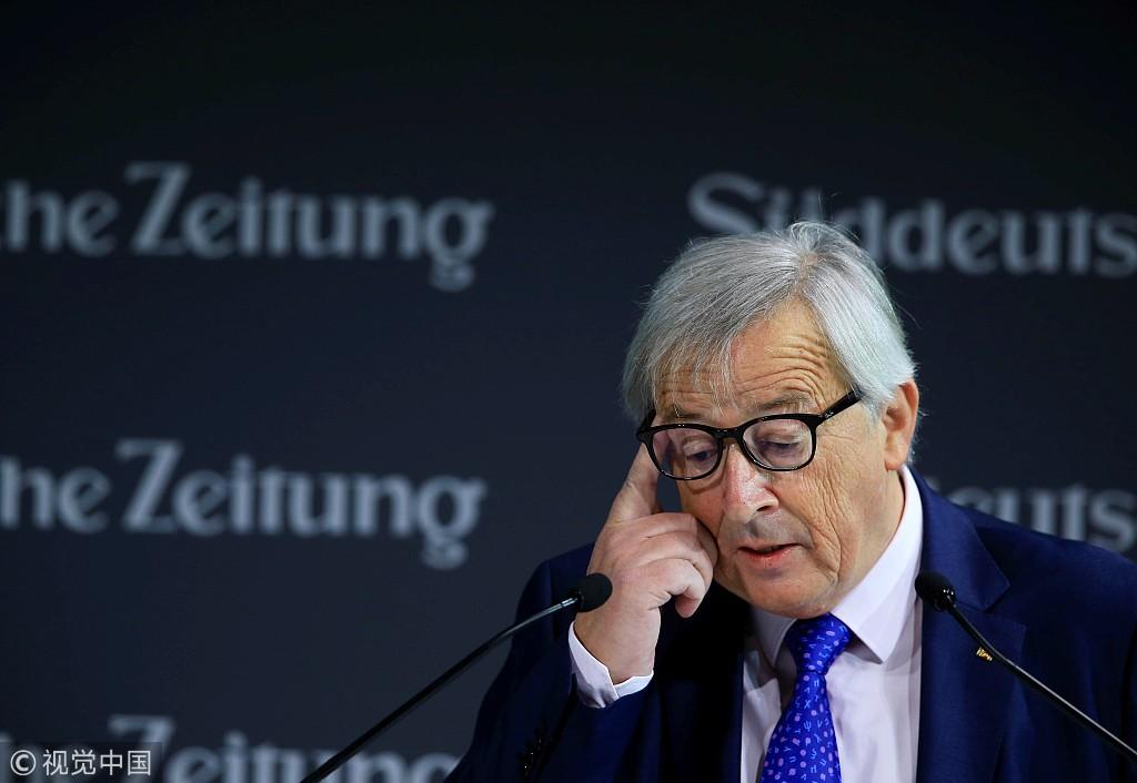 欧盟委员会主席容克 图源:视觉中国