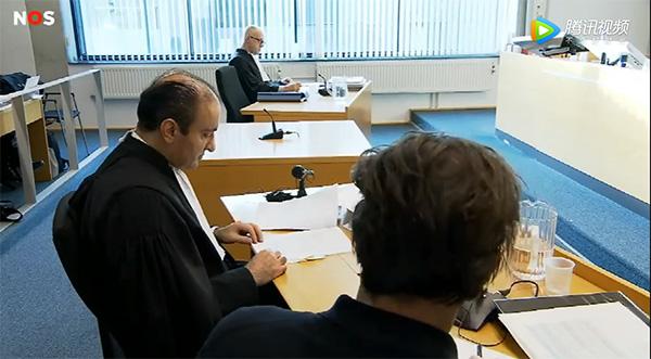 荷兰听证会现场 荷兰电视台截图