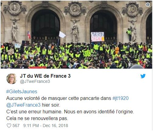 法国电视三台推特截图