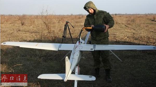 """原料图片:俄军""""海鹰""""-10战术无人机。"""