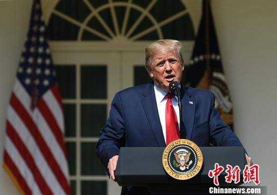 資料圖:美國總統特朗普。中新社記者 陳孟統 攝