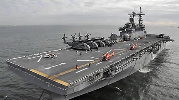 """美军""""黄蜂""""号两栖攻击舰。"""