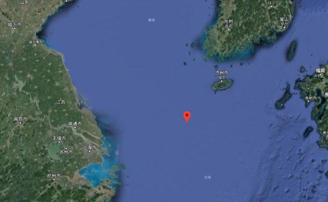 红色标记处为苏岩礁大致位置 图 谷歌地图