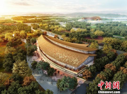 12月19日,2019年中国北京世界园艺博览会商业服务保障企业签约运动在延庆区举走。图为商业配套之一的花卉商超成果图。(完) 北京世园会供图 摄