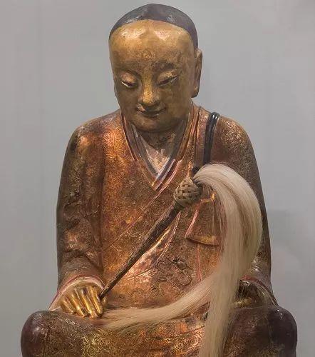 ▲章公祖师肉身坐佛像(英国《星期日泰晤士报》网站)